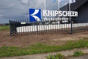 Spijlenhekwerk bij Knipscheer Infrastructuur Bedrijventerrein H2O